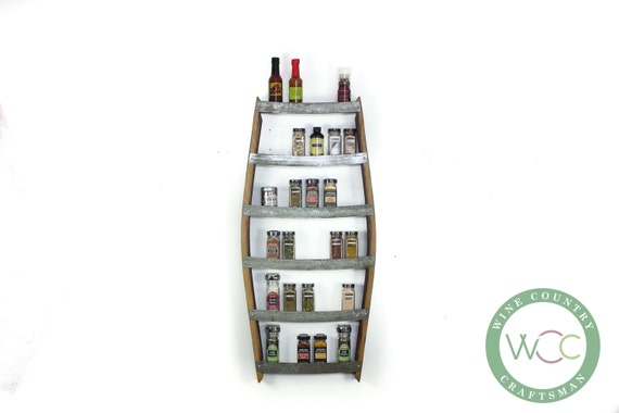 """SPICE RACK - """"Thyme"""" - Large Spice Rack made from 100% recycled"""