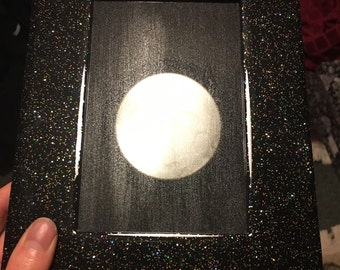 Galaxy Black Glitter Scrying Mirror