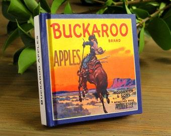 Small Journal - Buckaroo Brand Apples- Fruit Crate Art Print Cover