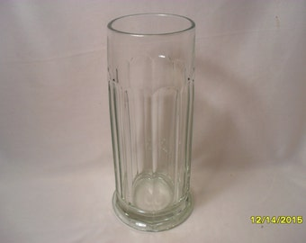 Awesome Barber Shop Clear Glass Fluted Comb Jar or Soda Shop Bar Jar