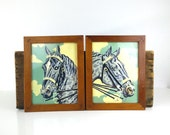 Horse Paint by Numbers, Pair of Two Framed / Dapple Gray