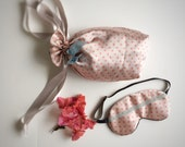 Silk Lingerie bag travel bag in apricot-pink and spots by Love Me Sugar