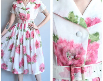 1950s Dress // My Admiration Dress // vintage 50s floral dress