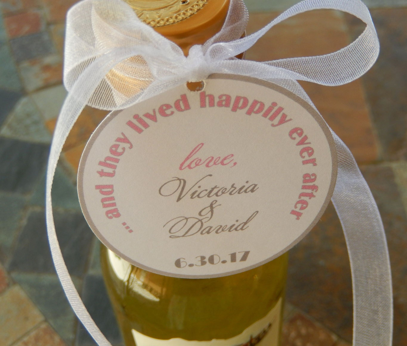 Disney Wedding Gift: Disney Inspired 2 Wedding Favor Tags... And They Lived