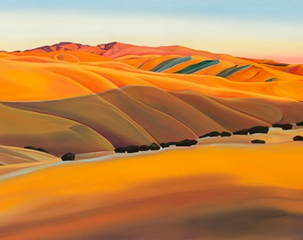 "Sunset in the Foothills 12""x24"" giclee print"