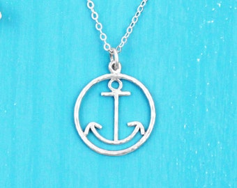 Anchor Necklace - Sterling Silver - Anchor Jewelry - Nautical Necklace