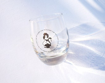 Playboy Club cocktail glass Femlin vintage drinking glass collectible barware retro