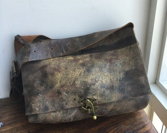 Soft leather messenger bag, Distressed laptop bag, Macbook pro messenger bag, Handmade leather messenger bag, Stylish leather laptop bag