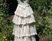 RESERVED 1930's Southern Charm.  Be the belle of the garden party in this pale floral cotton batiste.