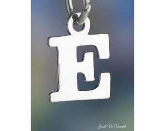 Sterling Silver Small Letter E Charm Initial Capital Letters Solid 925