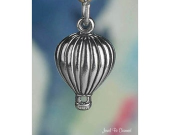 Sterling Silver Hot Air Balloon Charm Ballooning Adventure Solid .925