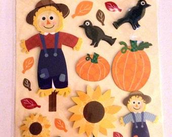K & Company LLO  -- Scarecrow --  NEW --  dimensional stickers  (#1821)