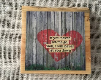 Street Art Heart with The Gaslight Anthem quote