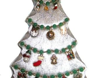 Silver & Green Christmas Tree
