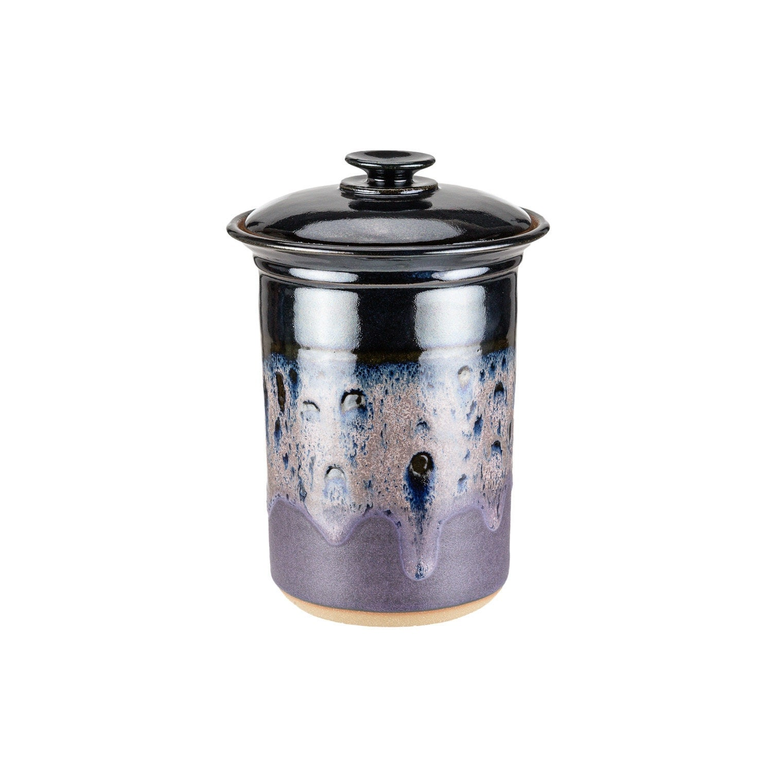 small pottery kitchen canister tea canister cookie jar
