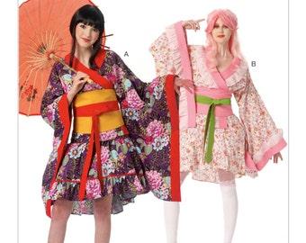 McCall's Sewing Pattern M7270 Misses' Costume Kimono Top Skirt Obi New UNCUT