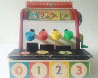 Vintage, Fisher Price, Cash Register, Three Little Pigs, Humpty Dumpty, Jack and Jill, Made In USA