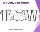 Meow SVG File
