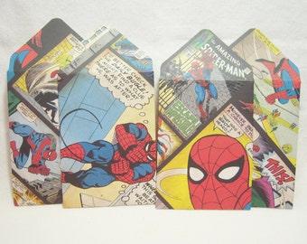 Spiderman Gift Card Envelopes, Superhero Envelopes, Superhero Gift Card Holders