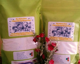 Natural Vegan Laundry Soap--250 to 500 Loads--Fantastic on Cloth Diapers--2 Large Bags and FREE BONUS Bag REFILL