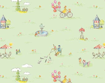 Colette - One Sunny Day in Green by Brenda Walton for Blend Fabrics
