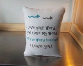 Valentine gift pillow boyfriend gift girlfriend gift funny bff gift cotton canvas throw pillow weird love cushion minimalist decor pillows