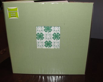 4-H Clover green 12x12 album