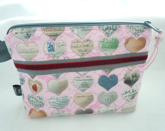 Cosmetic Bag Hearts