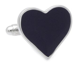 Black Heart Cufflinks