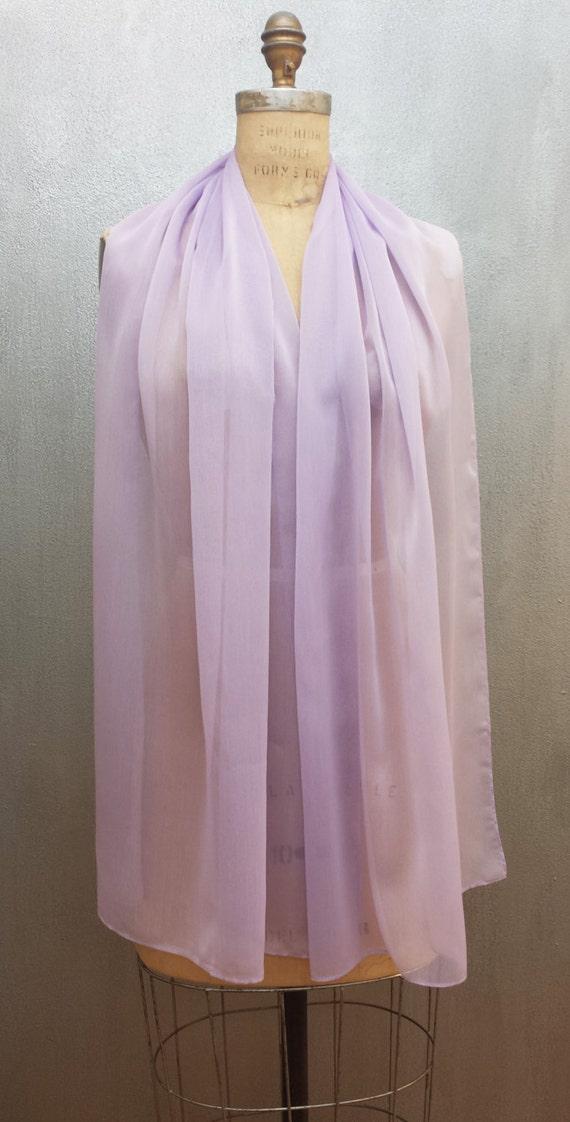 Lavender Chiffon XL Wrap Shawl