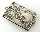 Antique art nouveau silver plated Lourdes souvenir book locket, perfect condition