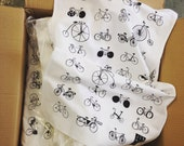 Two tea towels - bikes &/or dogs