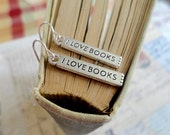 I Love Books bar charm earrings, book lover jewelry, literary enthusiast jewelry