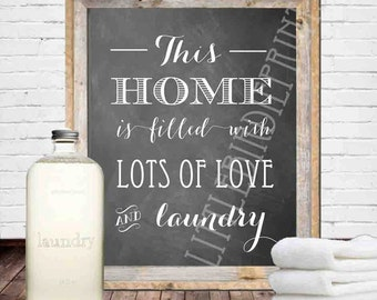 LAUNDRY ROOM Sign - Laundry room wall art - Laundry room printable chalkboard - Laundry room decoration Instant download