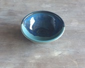 Small Bowl, Keramik Stoneware Prep Bowl Cooking Baking Mis En Place in Turquoise and Blue