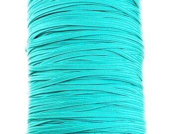 Turquoise Skinny Elastic 1/8 inch - Thin Elastic, Skinny Elastic, Elastic Trim, Thin Headband, Skinny Headband