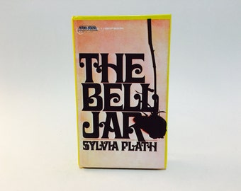 Vintage Pop Culture Book The Bell Jar by Sylvia Plath 1988 Edition Permabound Hardcover