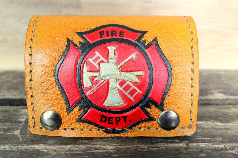Fireman Gift Christmas Gift For Men Firefighter Leather