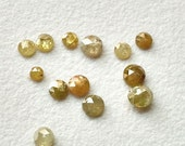45% ON SALE Yellow Diamond, Yellow Rose Cut Natural Diamond, Yellow Rough Diamond, Yellow Raw Diamond,  3mm To 4mm, 4 Pcs, 1 CTW