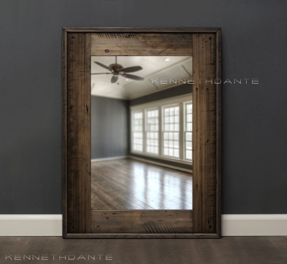 Fantastic Mirror Homestead Flat Barnwood Reclaimed Wood Mirror Rustic Mirrors