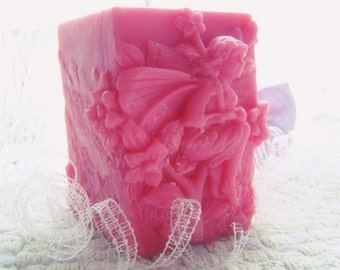 Fairy Candle. 100% Pure Soy Pillar Candle. Many colors and fragrances available.