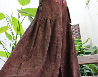 Wide Leg Pants - BK1610-01 Brown