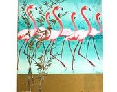 1956 Rare Flamingo Menu, Print
