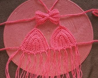 Crochet bikini top toddler