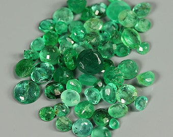 EMERALD  (32143) -  PARCEL (58 Stones / 2.2 cts. ) Mixed Green Emerald  - Zambia Mine