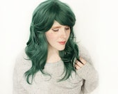 FINAL SALE St. Patrick's Day wig | Long Green wig | Cosplay wig, Hipster wig | Woodland Forest Nymph Hair | Juniper Valley