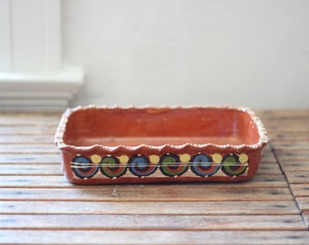 vintage Mexican pottery casserole dish