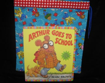 Vintage Arthur book and homemade bookbag