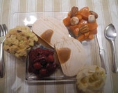 Thanksgiving Turkey Dinner for 18 inch Dolls and their American Girls- Play-Collectable-Display-Photo Props