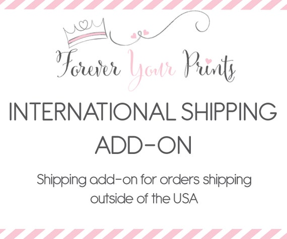 INTERNATIONAL SHIPPING add-on for Canada, Australia, United Kingdom, France, Germany, Greece, Italy & Everywhere Else Worldwide